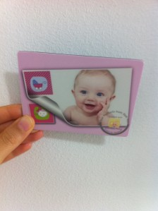 Baby photo magnet from iLove baby photos app