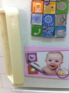 Baby photo magnet